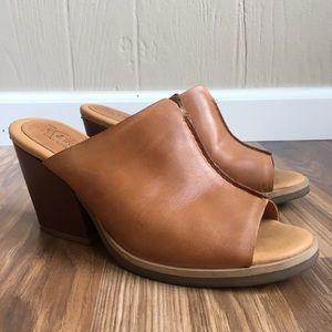 Kork Ease Leather Open Toe Miles